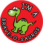 Children's Sticker - I'm A Brave-O-Saurus