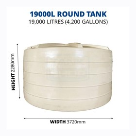 19000 Litre Round Poly Water Tank