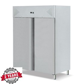 Two Door Upright Stainless Steel Fridge
