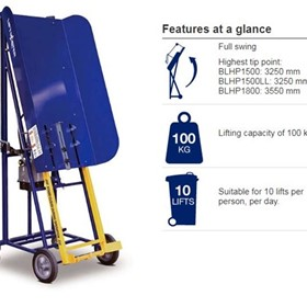 Manually Operated Bin Lifter | Electrodrive Liftmaster Rugged