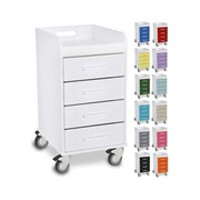 Small Compact 4 Drawer Locking Cart