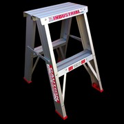 Industrial Aluminium Double Sided Step Ladder | INDALEX Tradesman