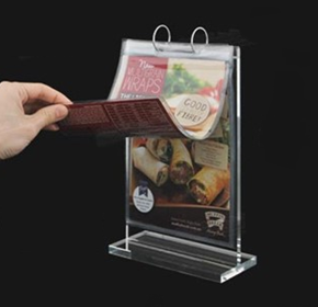 Table Menu Flip Sleeve Stand