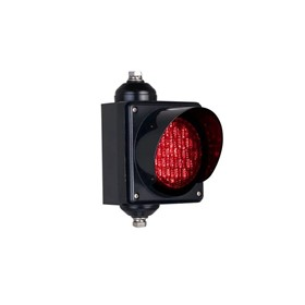 LED Traffic Lights | Single Aspect 100mm with Flasher Module Option
