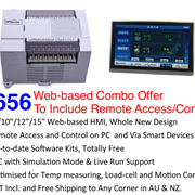 "High-end Web-based Combo Offer - 7""/10""/12""/15"" HMI + on-board I/O PLC"