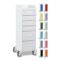 Tall 6 Drawer Locking Cart