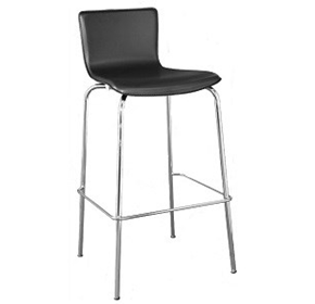 Black PVC Covered Barstool | Avoca