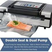 Food Vacuum Sealer Cryovac Machine Double Seal Heavy Duty