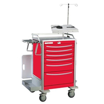 Lightweight Aluminium Crash Cart | Waterloo UTRLA-333369-RED