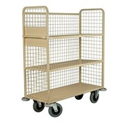 Linen Trolley | 3-Shelf with Mesh Back