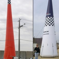 Compact Air Inflatable Towers and Pylons