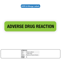 "Medical Identification Labels for ""Adverse Reaction"""