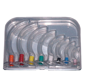 Guedel Airways Set of 8 in a Clear Hard Case  RM-5000
