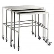 Stainless Steel Nesting Medical Trolleys