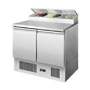 Two Door Open Top Saladette Prep Refrigerator