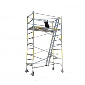 Light Duty Scaffolding | EASYSCAF 3.4m Aluminium Mobile Scaffold