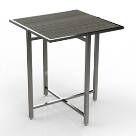 Mobile Buffet Table | Cross Cube Lock Top | Square Table