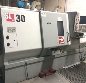 Used 2008 Haas SL30T Slant Bed Lathe with Bar 300 Barfeed