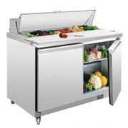 Polar 405L Double Door Prep Counter Fridge