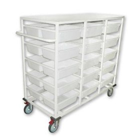Double Sided 30 Basket Storage MultiPurpose Trolley | SBT30