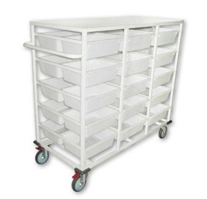 Double Sided 30 Basket Storage Trolley | SBT30