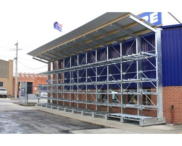 Outdoor Rack with Shelter