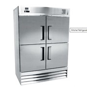 Stainless Steel Four-Half Door Refrigerator | Mitchel Refrigeration