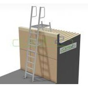 Mini Fixed Parapet Ladder - 2.55m Kit with Angle Handrails