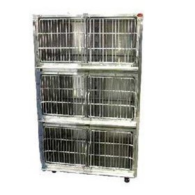 Stainless Steel Veterinary Cage Banks