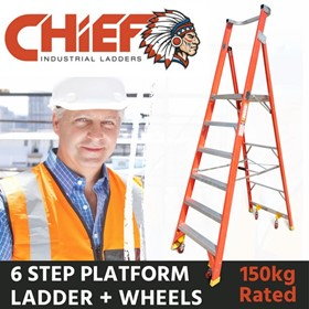CHIEF Fibreglass Platform Ladders