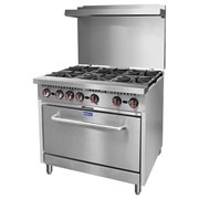 F.E.D GasMax 6 Burner Oven Range With Flame Failure NG/LPG