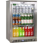 Rhino Stainless Steel 1 Heated Glass Door Bar Fridge|SG0R-HD