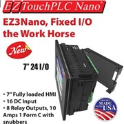 HMI Touch Panel with Built-in 24 I/O Fixed PLC | EZAutomation
