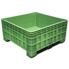 BB 560 Solid 430L Litre Plastic Pallet Storage Bin in Green