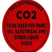 Identification Sign - CO2 Fire Extinguisher