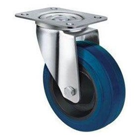Blue Rubber Castors | TE21ENR_S | Castors & Trolley Wheels