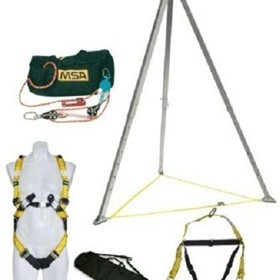 Confined Space Kit w/ 3:1 45m Rescue Safe Rope Pulley System