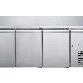 FED-X S/S Three Door Bench Fridge - XUB7C18S3V