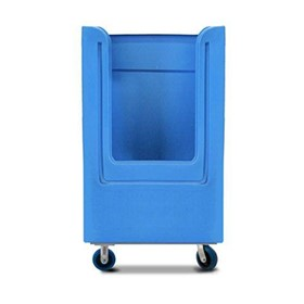 Moulded plastic bulk laundry tallboy trolley: POLYTROLLEY1620