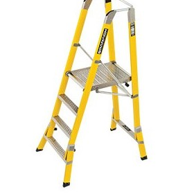 Workmaster 450mm & 550mm Fibreglass Platform Ladders