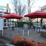 Commercial Aluminium Umbrella | 3m Square Valanced Edge - CAF8-3x3