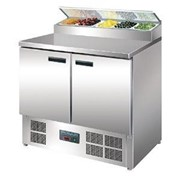 Polar 2 Door Salad and Pizza Prep Counter Stainless Steel | G604-A