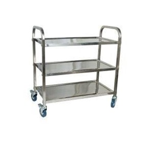 Stainless Steel Serving Trolley | 3-Shelf