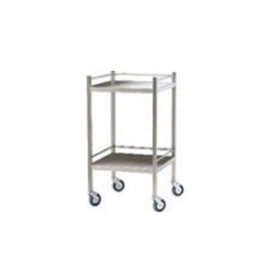 Stainless Steel Flat Top Trolley - With Rails