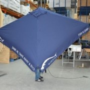 Commercial Aluminium Umbrellas-CAF4-2x2v, 2m Square Valanced Edge