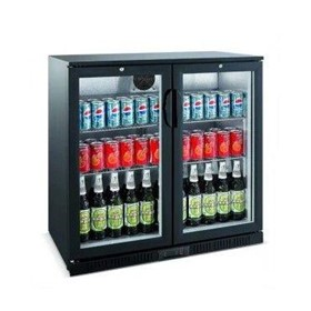 Hinged Double Glass Door Backbar Chiller