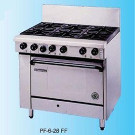 6 Burner Gas Range with Convection Oven | Goldstein PF-6-28