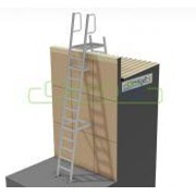 Mini Fixed Parapet Ladder - 3.75m Kit with Angle Handrails