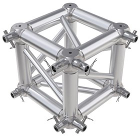 F34 Square Truss 6 Way Cube Junction with Half-Spigot Connectors
