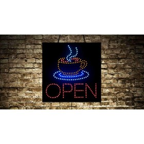 Animated Open Coffee LED Sign